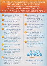 Verso du referendum de François BAYROU
