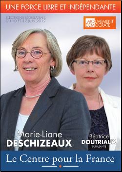 Affiche légistatives neuvième circonscription de l'Isère