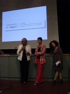 Le 5 octobre 2011 à la Mutualité à Lyon : Présentation du pacte pour l'égalité soumis aux candidats à la Présidence de la République