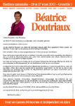 Recto de la profession de foi de Béatrice DOUTRIAUX