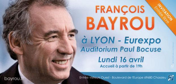 François Bayrou à Lyon