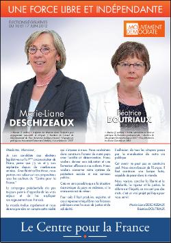 Profession de foi des légistatives, neuvième circonscription de l'Isère