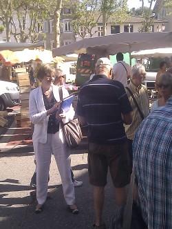Sur le marché de St Marcellin