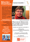 Page recto du tract de lancement de campagne de Béatrice Doutriaux