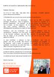 Page verso du tract de lancement de campagne de Béatrice Doutriaux
